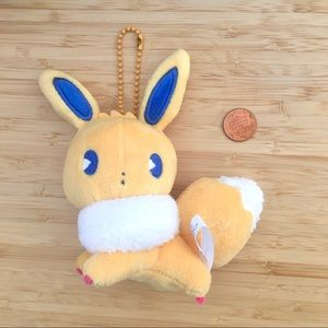 Rare pokemon eevee plush keychain